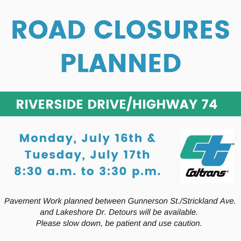 Caltrans - Hwy 74 - July 2018