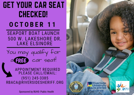Car Seat Event  Oct 11th