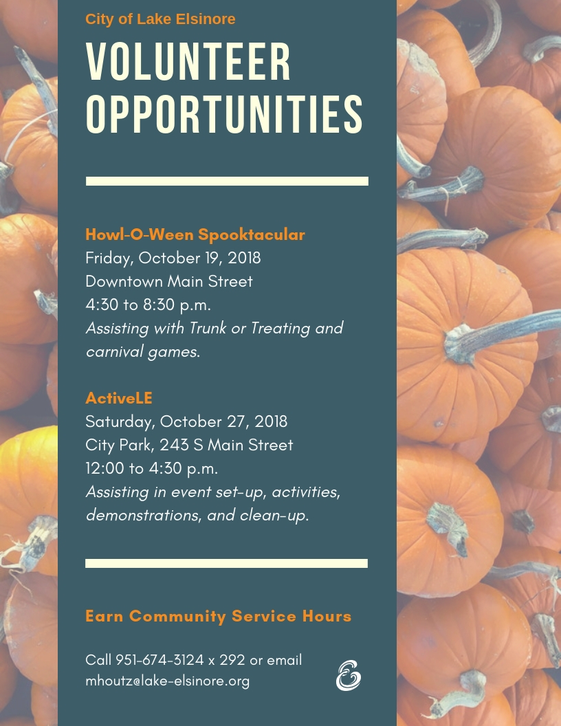 180917 - Fall Volunteer Opportunities