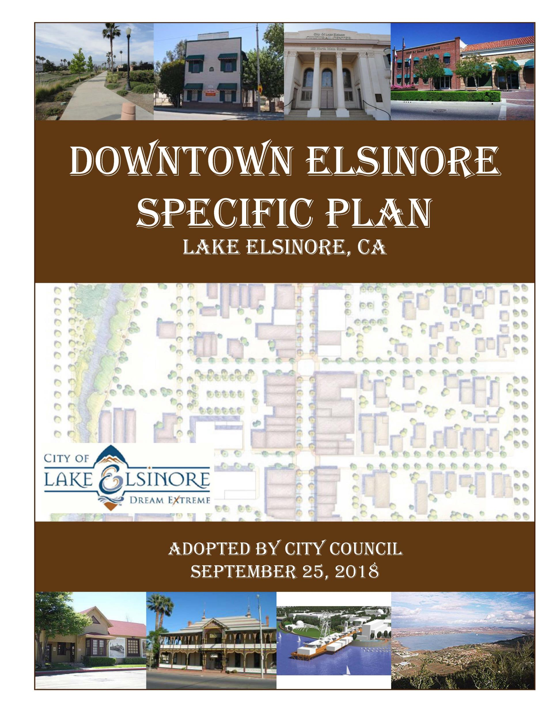 Downtown Elsinore SP Cover - Draft 8-23-18