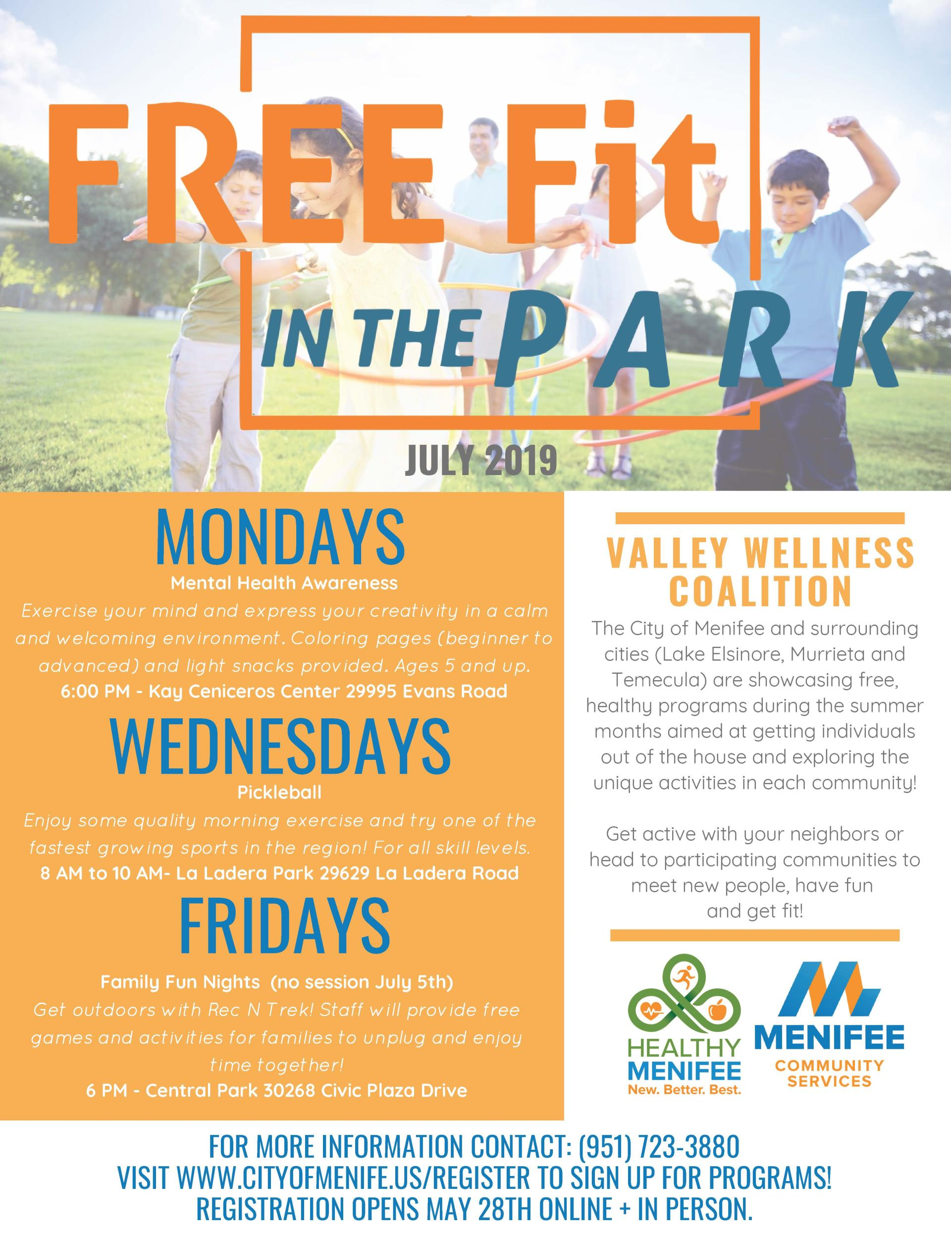 fitness, free, free fitness, free fit, fit in the parks, park fitness, boot camp, trails, fit trails, fitness