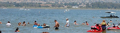 Recreational users at Lake Elsinore