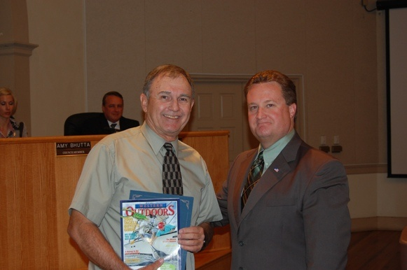 George Kramer with Mayor Magee