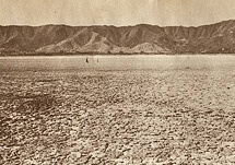 The lake goes dry circa 1950s