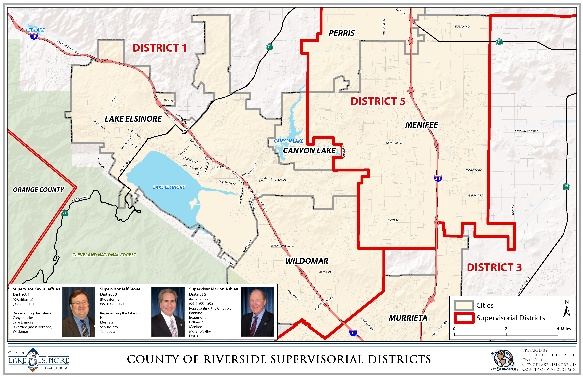 County of Riverside Supervisorial Districts
