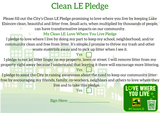 Clean LE Pledge