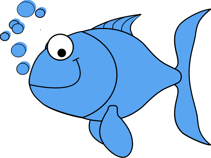 light blue fish