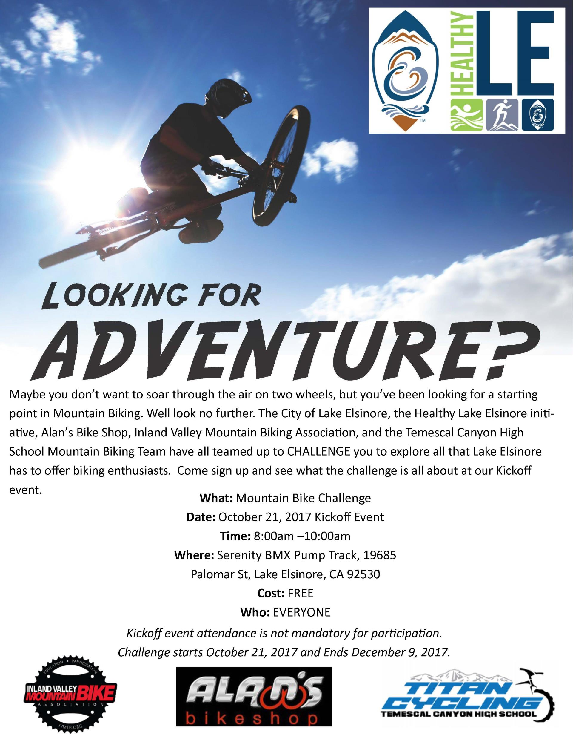 Mountain Biking Event Flyer
