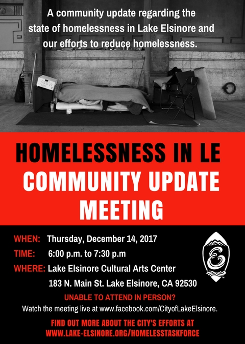 Homeless Outreach Community Update Meeting Flyer