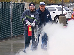 CERT fire extinguisher lesson