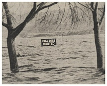 Lake flooding in the early 1980s