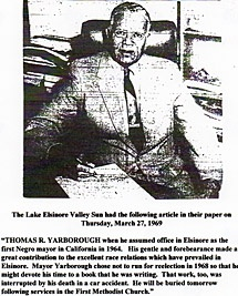 First African-American Mayor T. Yarborough