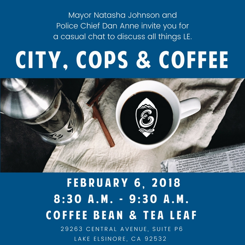 City of Lake Elsinore : Event Calendar : City, Cops and Coffee