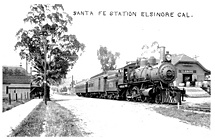 Santa Fe Train Depot in Lake Elsinore