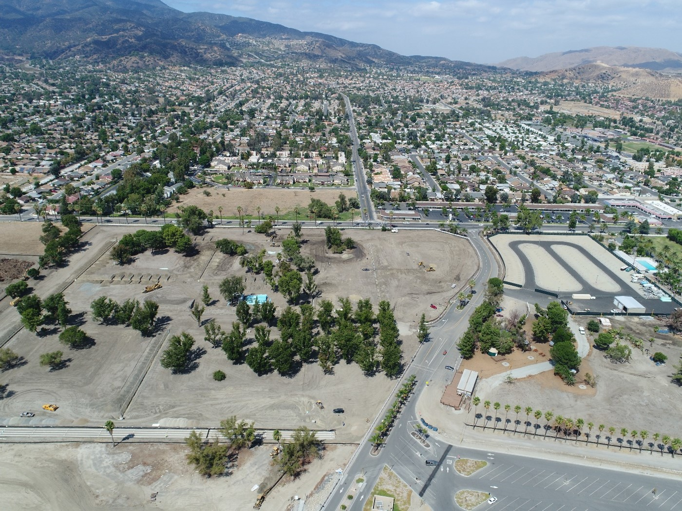 Aerial of Campground Under Construction